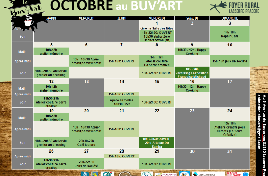 Programme d'octobre